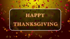 Happy Thanksgiving 01 Stock Footage
