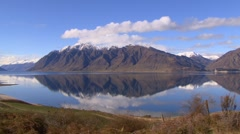 South Island NZ, Mountain Lake - stock footage