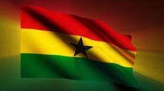 Ghana Flag Stock Footage