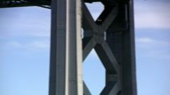Blue Angels over Bay Bridge Stock Footage