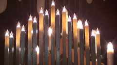 5359 candle lights Stock Footage