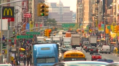 New York City, traffic on the very busy Canal Street, tight shot Stock Footage