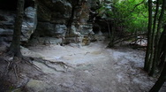 Stock Video Footage of Hiking at Hanging Rock State Park in North Carolina