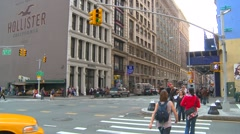 New York City, edge of NOHO people and traffic Stock Footage