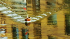 Small Toy boat on the water Stock Footage
