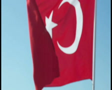 Turkish Flag Stock Footage