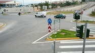 Stock Video Footage of Traffic time lapse at road junction Crete Greece