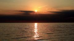 Sunset over Atlantic Ocean Stock Footage