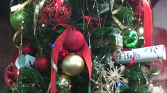 Christmas tree decorated Stock Footage