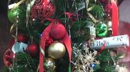 Christmas tree decorated Stock Footage