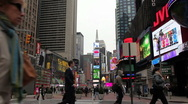 Stock Video Footage of Times Square in New York City with People - Timelapse