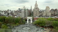 Stock Video Footage of Washington Square Park in New York City - Aerial