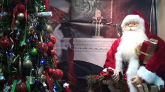 Santa and tree Stock Footage