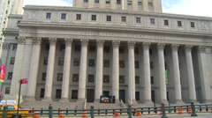 New York City, US court house wide Stock Footage