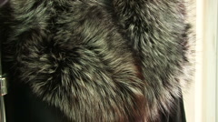 Coat of thick fur Stock Footage