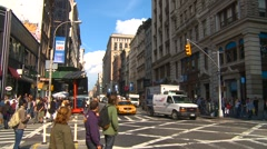 New York City, Soho, traffic, wide shot Stock Footage