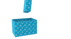 Christmas Blue Gift Box with rabbits Stock Footage