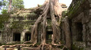 Stock Video Footage of The famous Tomb Raider Film site of La Phrom.