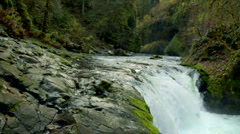 Lower Punchbowl Falls Stock Footage