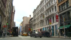 New York City, Noho, more traffic and skyline Stock Footage