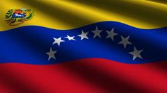 Venezuela flag close up Stock Footage