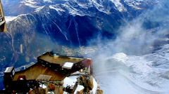 Wind at MontBlanc - Chamonix, France. Stock Footage
