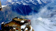 Stock Video Footage of Wind at MontBlanc - Chamonix, France.