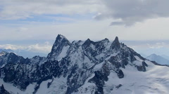 View of MontBlanc - Chamonix, France. - stock footage