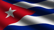Cuba flag close up Stock Footage