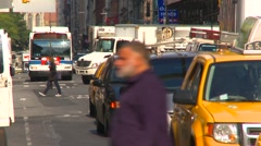 New York City, Soho, traffic lots of it Stock Footage