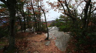 Hiking at Hanging Rock State Park in North Carolina Stock Footage