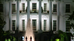 Wash DC, White House, night, zoom out Stock Footage