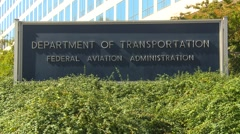 Wash DC, Dept of Transportation Federal aviation administration - stock footage