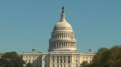 US Poltics - Wash DC, Capitol hill from the mall Stock Footage