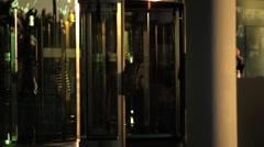 Hotel doors close up Stock Footage