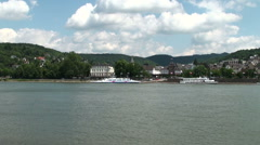 Boppard - frontage onto the River Rhine Stock Footage
