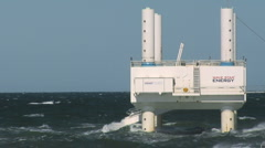 Wave Energy Denmark 04 Stock Footage