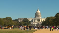 American Icons #5 Capitol hill and mall, people Stock Footage