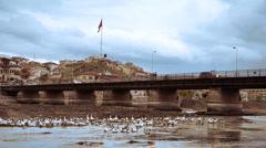 Ordinary turkish anatolian town Turkey 4  Stock Footage