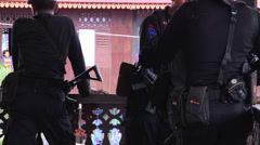 Indonesian Police and Guns 3 Stock Footage