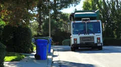 GARBAGE PICK-UP Stock Footage