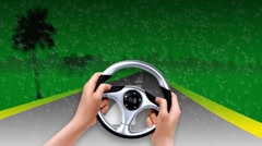 Driving game Stock Footage