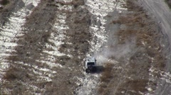 Stock Video Footage of 4x4 challenge on steep hill