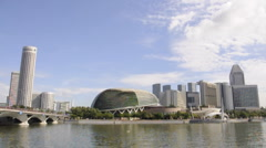 Time-lapse of Esplanade, Singapore Stock Footage