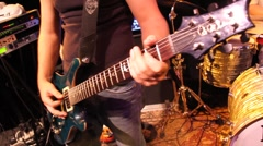Electric Guitar Riff - stock footage