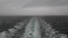 Stormy ship wake. - stock footage