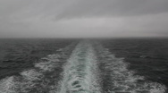 Stock Video Footage of Stormy ship wake.