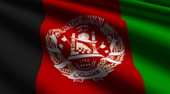 Afghanistan flag close-up Stock Footage