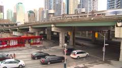 Time-lapse, Gardiner expressway traffic Stock Footage