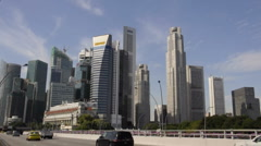 Vehicles moving in Singapore Central Business District  - stock footage